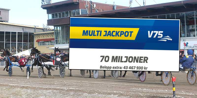 På söndag är det multijackpott på V75, på Rommetravet i Borlänge, och där har spelare vunnit stotr förut under påsken.