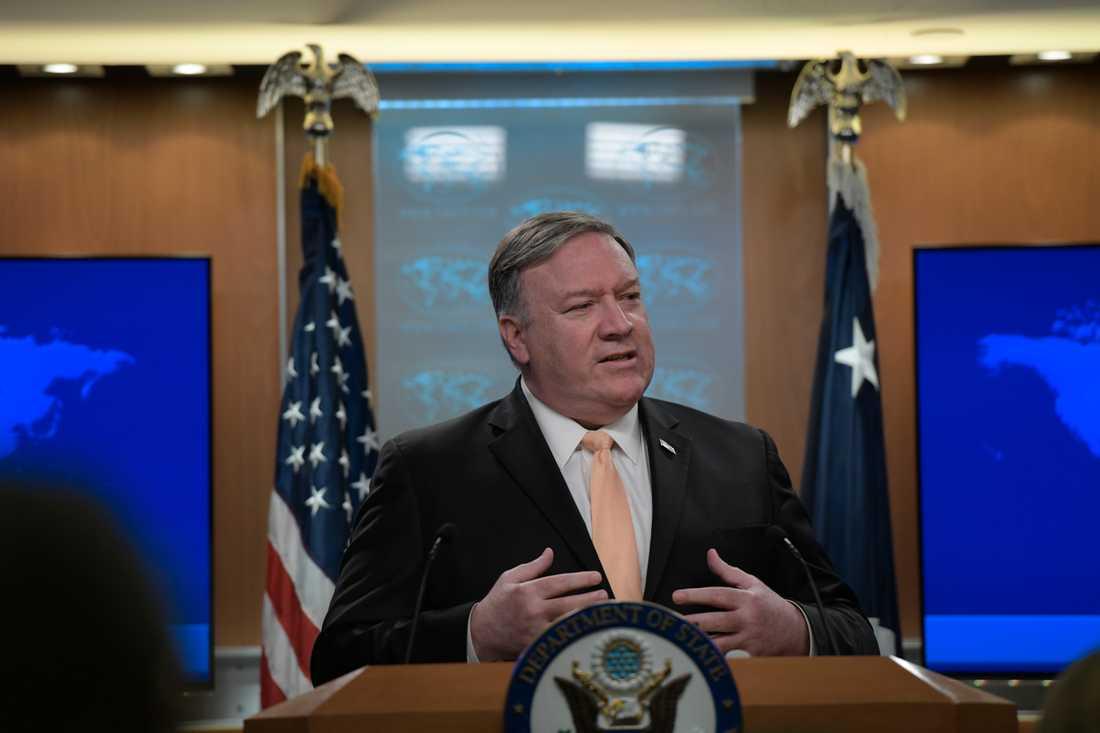 USA:s utrikesminister Mike Pompeo uppmanar Venezuelas president att lämna över makten. Arkivbild.