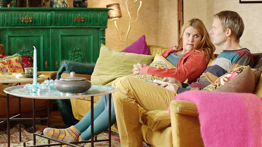 Stor succé. Som rollkaraktären Anna i tv-succén Solsidan har Mia Skäringer haft stora framgångar. Här med Felix Herngren som spelar Alex.