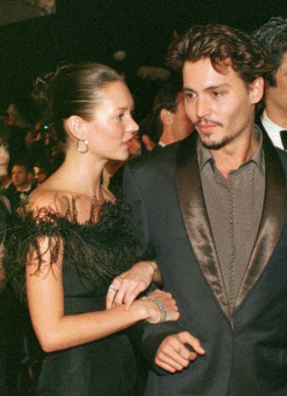 Johnny Depp var även tillsammans med supermodellen Kate Moss i fyra år.