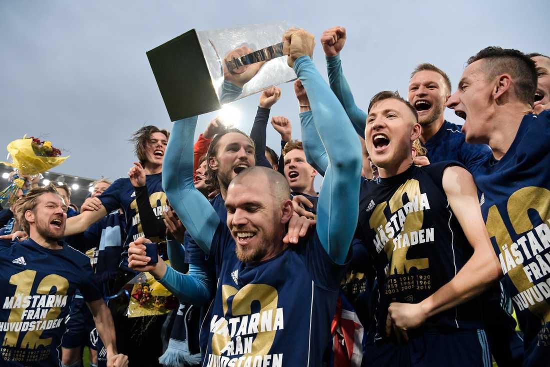 Allsvenskan är en av alla sportevenemang som skjutits på framtiden. Arkivbild.