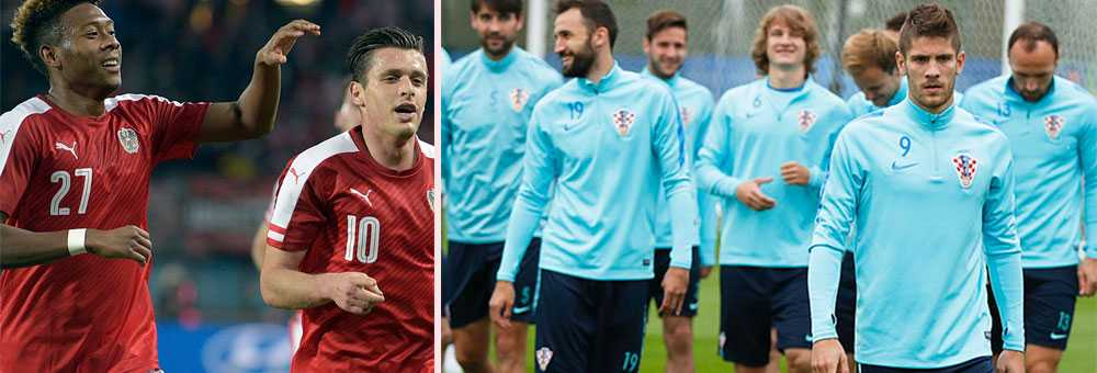 Reglerna är hårda för Österrikes och Kroatiens landslagsspelare