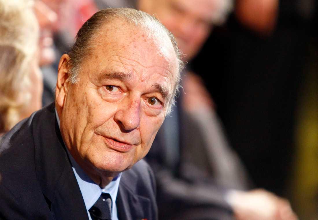 Frankrikes tidigare president Jacques Chirac är död. Arkivbild från 2011.