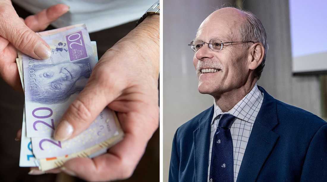 Riksbanken räknar med löneökningar, men Svenskt näringsliv ställer sig kritiska, rapporterar SR.