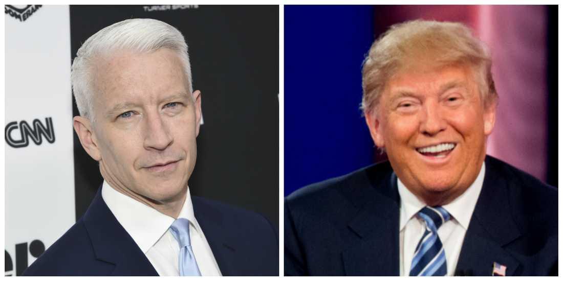 Anderson Cooper och Donald Trump (bilderna är tagna i andra sammanhang).