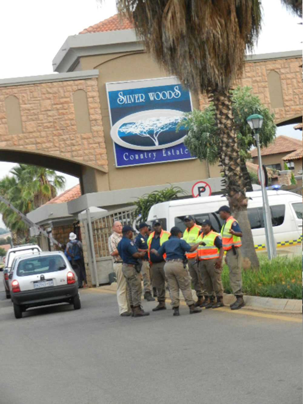 Innanför de här murarna bodde  Oscar Pistorius med flickvännen Reeva Steenkamp.