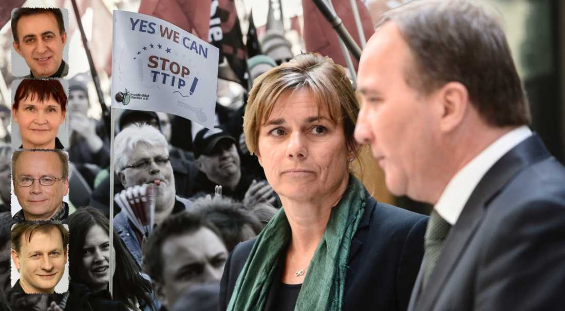 En regering som ställer sig bakom CETA och TTIP – i stället för att kräva omförhandlade avtalstexter som inte bakbinder demokratin – är inte längre rödgrön, skriver i dag fyra MP-riksdagsledamöter.