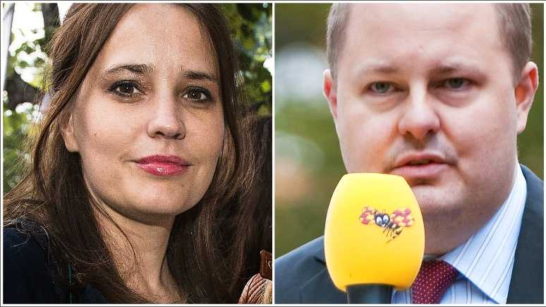 Karin Olsson,  kulturchef på Expressen och Thomas  Mattsson, chefredaktör, Expressen.