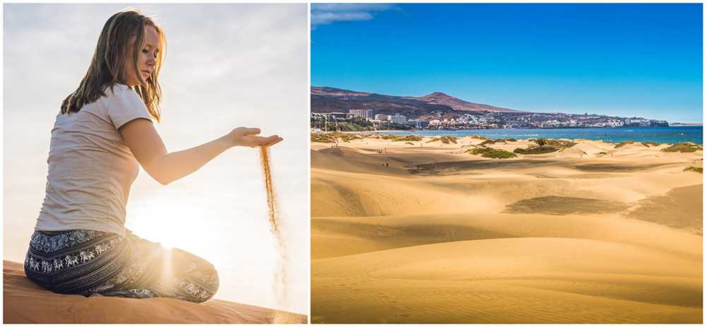 Sanddynerna i Maspalomas förstörs av graffiti, målarfärg och karvande med knivar.