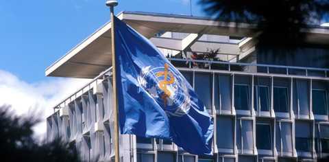 WHO:s högkvarter i Genève.