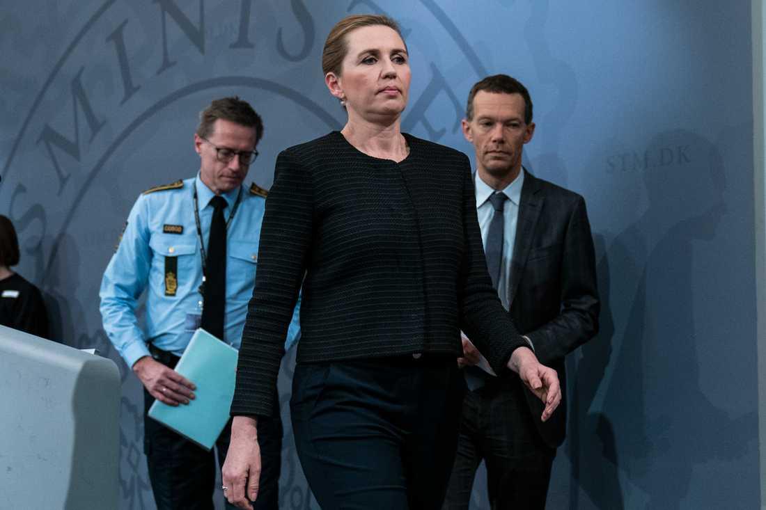 Danmarks statsminister Mette Frederiksen kommer med dramatiska besked. Arkivbild.