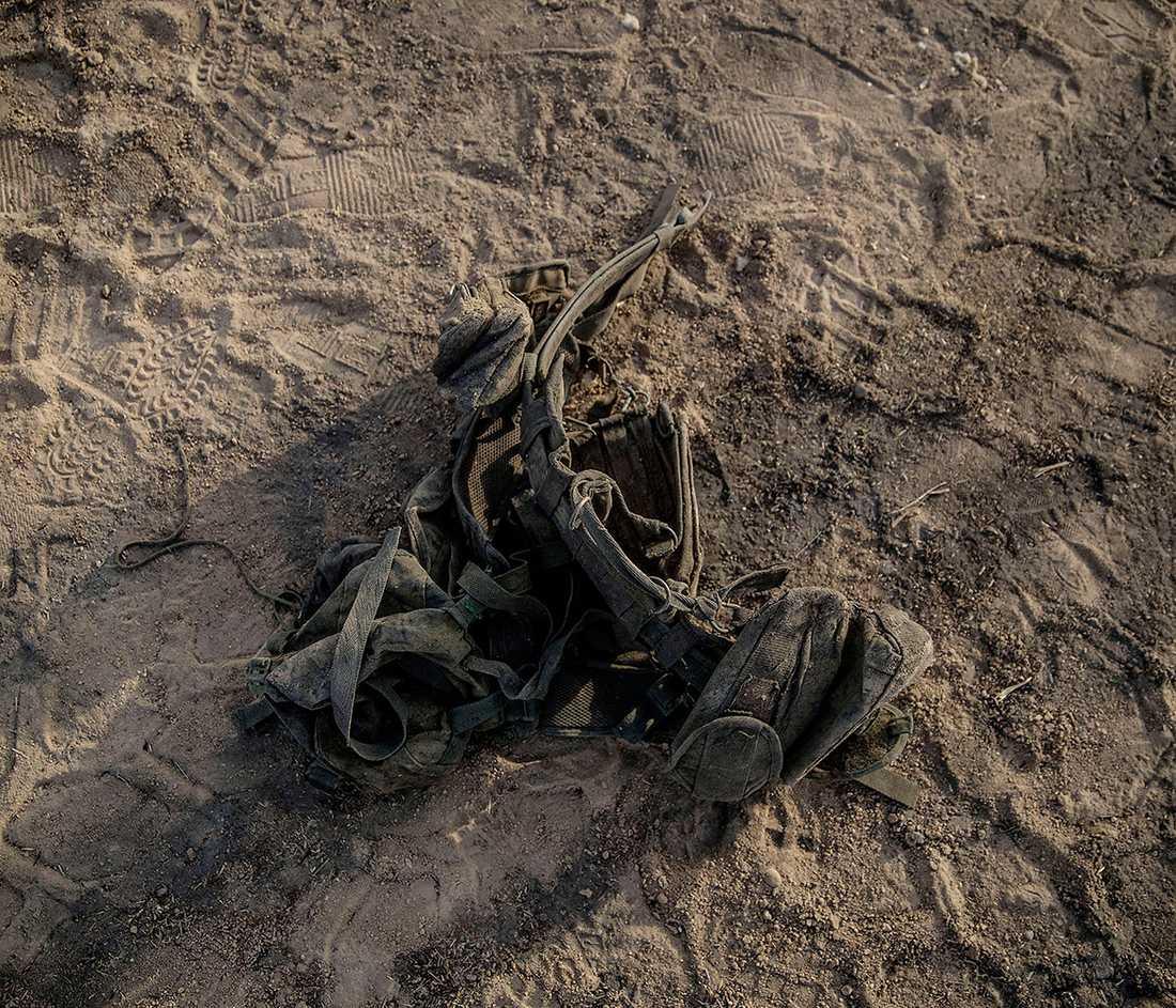 Ett svart vapenbälte från en dödad IS-krigare.
