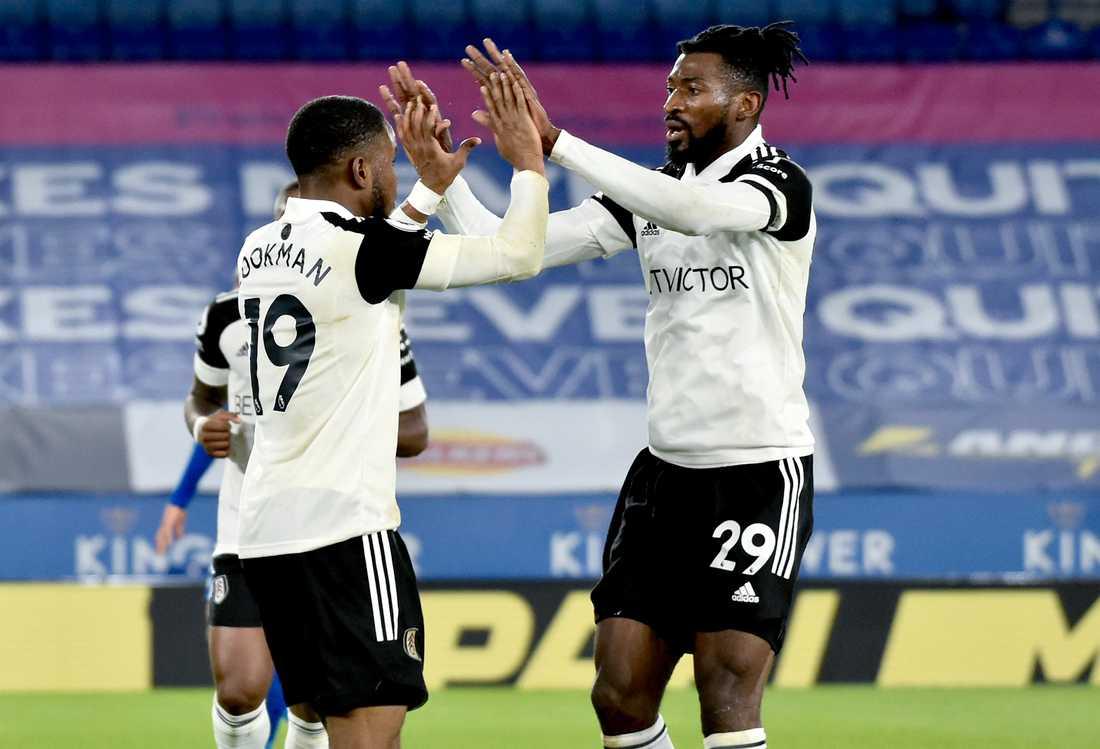 Ademola Lookman, till vänster, satte Fulhams 1–0-mål.