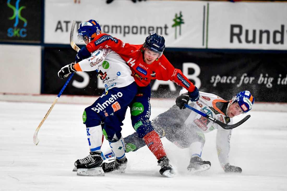 Martin Frid gjorde kvitteringsmålet när Edsbyn vann mot Bollnäs på annandagen.