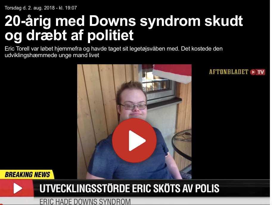 Danska Ekstrabladet uppmärksammar Eric Torells död.