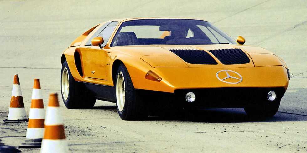 Mercedes-Benz C111 Mercedes C111 började sitt liv med wankelmotor och avslutade det med V8.