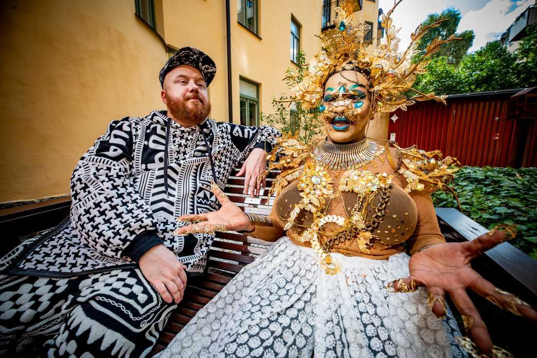 Svenska musikern Petter Wallenberg och Tropical Marca, Indiens första queer-rappare.