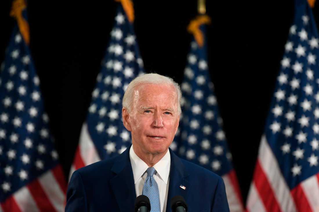 USA:s tidigare vicepresident Joe Biden, som senare i sommar väntas utses till Demokraternas presidentkandidat.