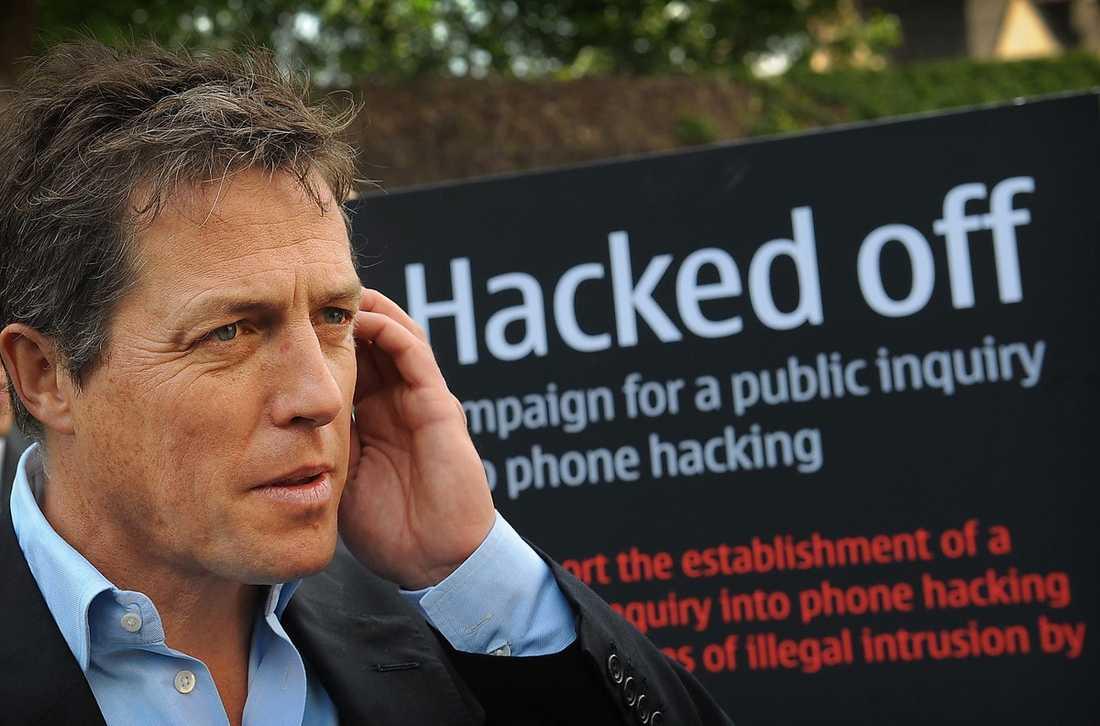 Filmstjärnan Hugh Grant lyckades delvis avslöja skandalen när en journalist skröt om metoden med att avlyssna telefoner för honom.