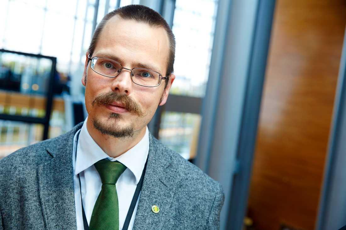 Svenske EU-parlamentsledamoten Max Andersson (MP). Arkivfoto.