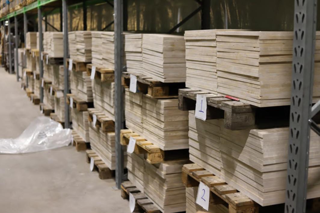 Ordern på 57 ton marmorplattor var misstänkt stor.