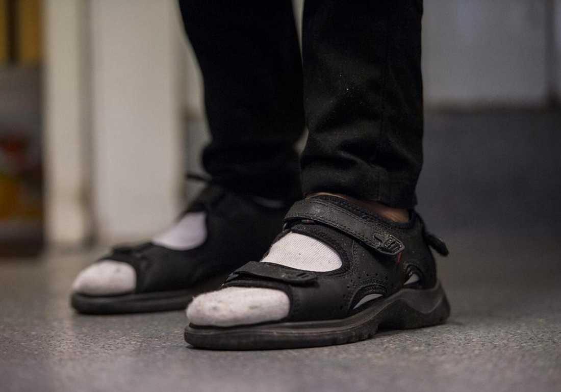 Strumpor i sandaler – på väg att bli trendigt.