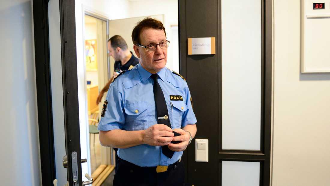 Christer Nordström, tidigare presstalesperson för polisen i Uppsala.