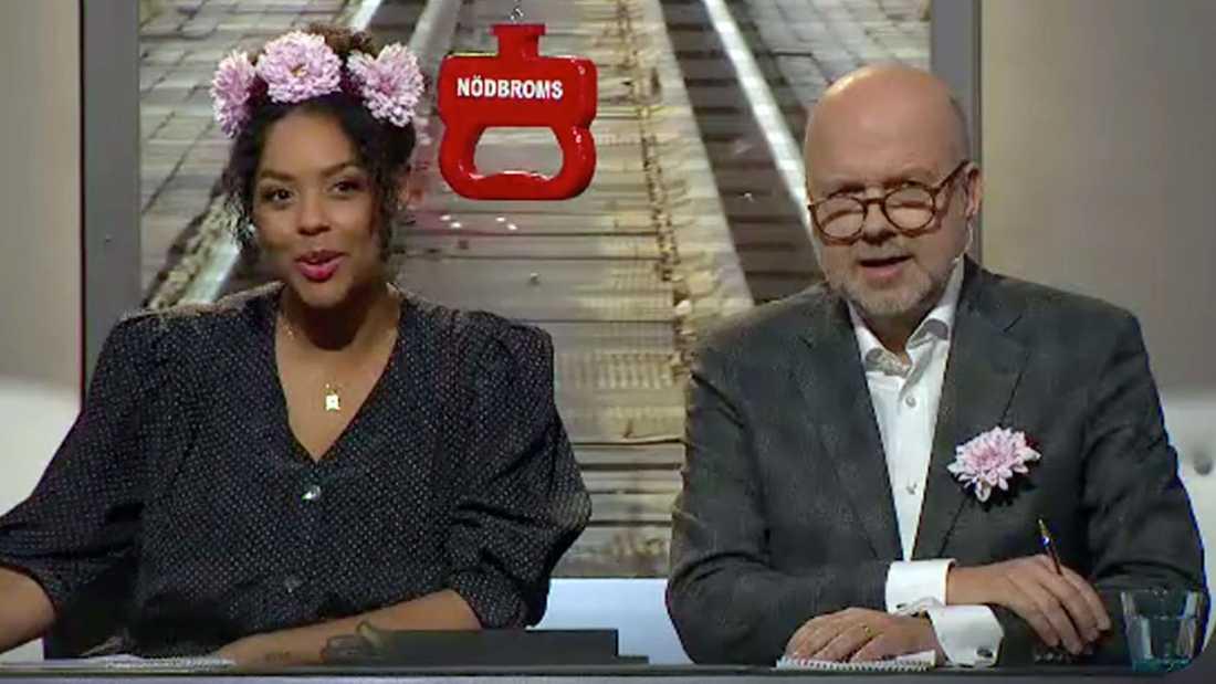 """Amie Bramme Sey och Gunnar Bolin i """"På spåret""""."""