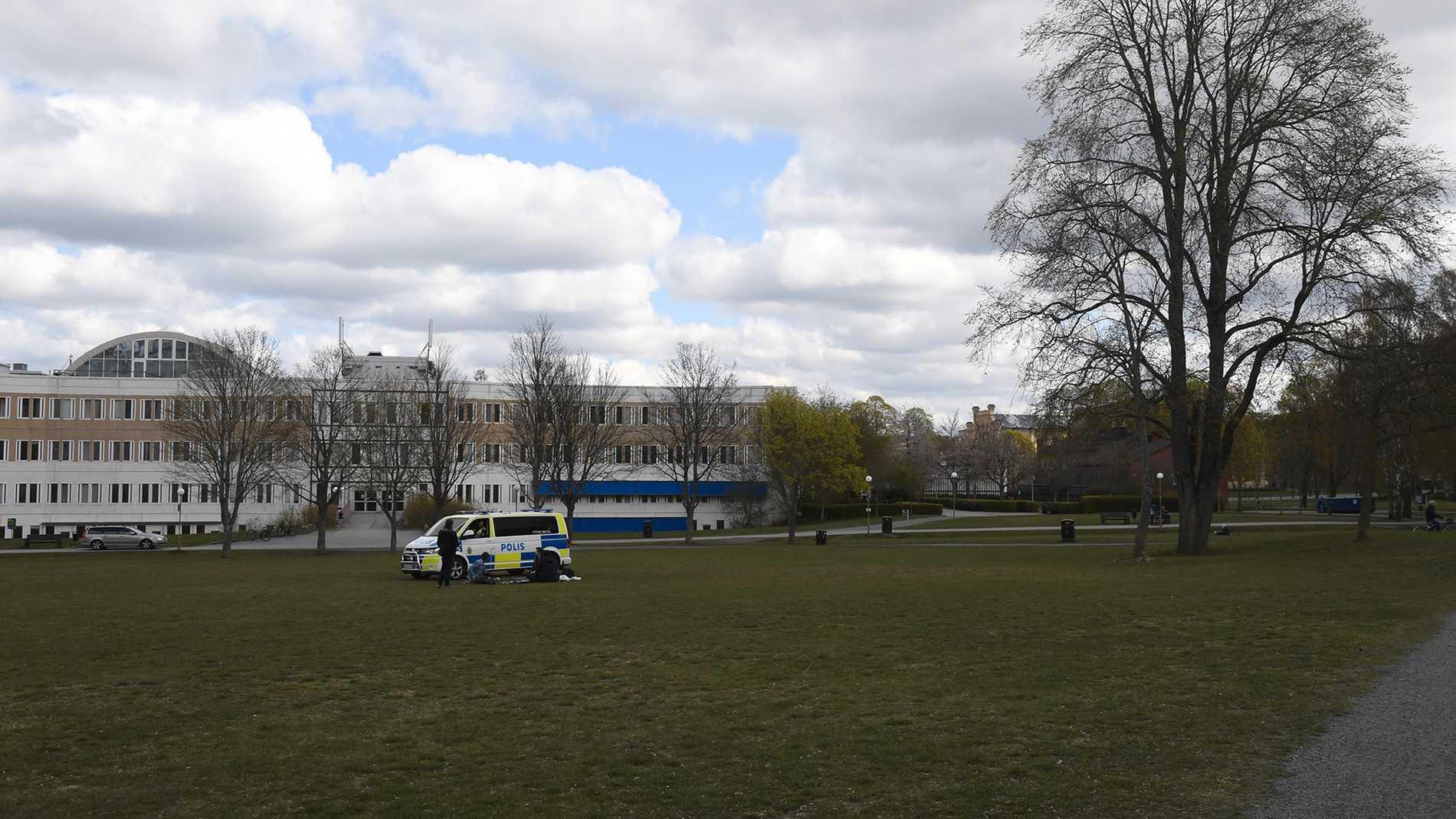 Tomt i Uppsala parker på valborg 2020.