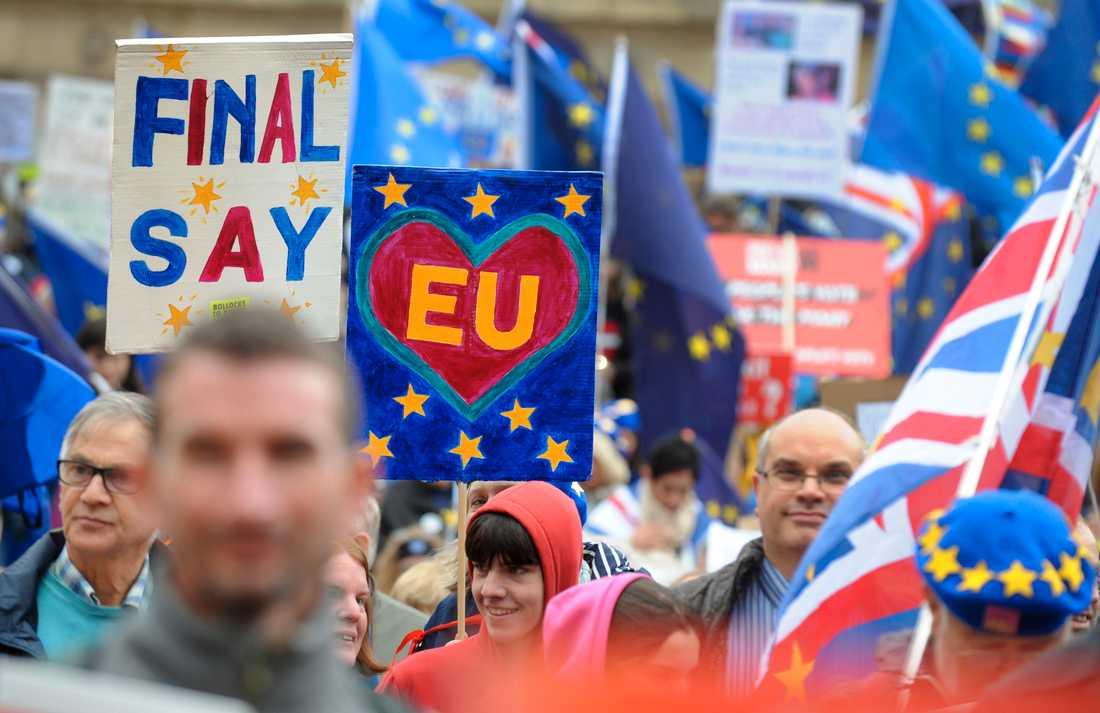 Brexit river upp starka känslor i Storbritannien som går till parlamentsval på torsdag. Arkivbild.