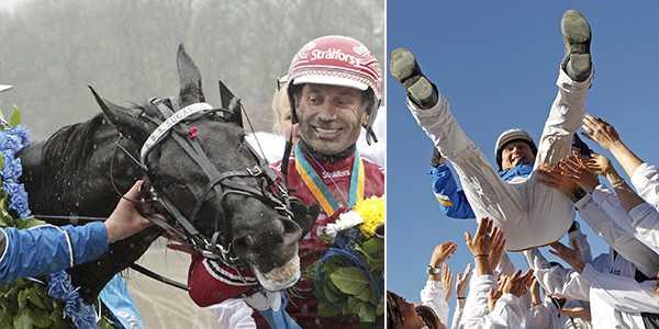 B.B.S.Sugarlight och Peter Untersteiner tillsammans med Solvato och tränare Veijo Heiskanen är två klassiska vinnare.
