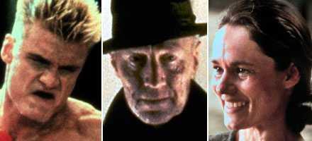 Dolph Lundgren, Max von Sydow och Pernilla August –några av de svenskar som lyckats i Hollywood.