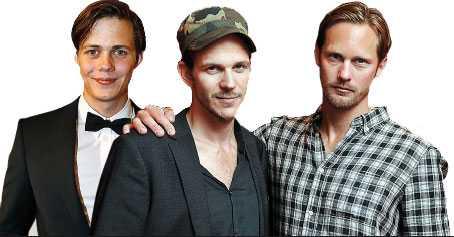 Bill, Gustaf och Alexander Skarsgård.