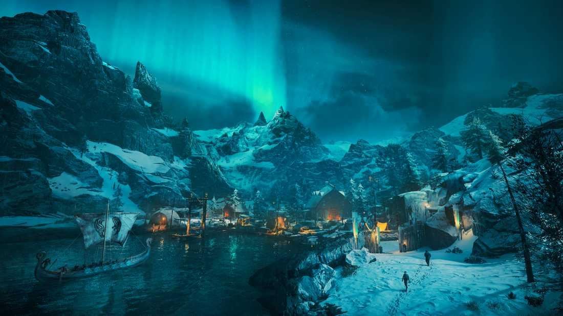 Norge är kargt och ogästvänligt, men vackert, i Ubisofts tolkning. Pressbild.
