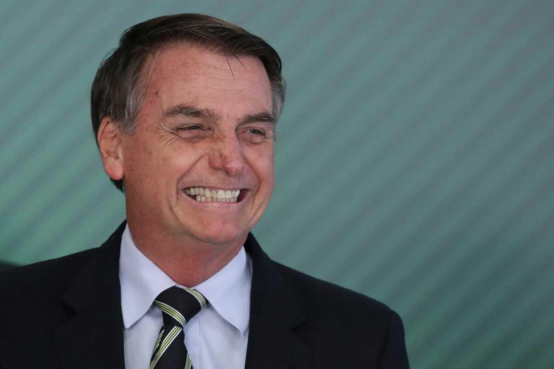 Brasiliens president Jair Bolsonaro har opererats. Arkivbild.