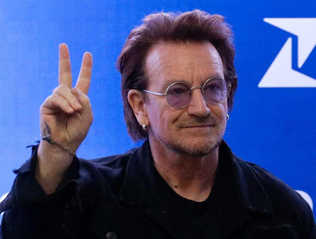 U2:s frontman Bono har gjort en låt inspirerad av italienarna, som under karantänen sjunger till varandra från sina balkonger. Arkivbild.