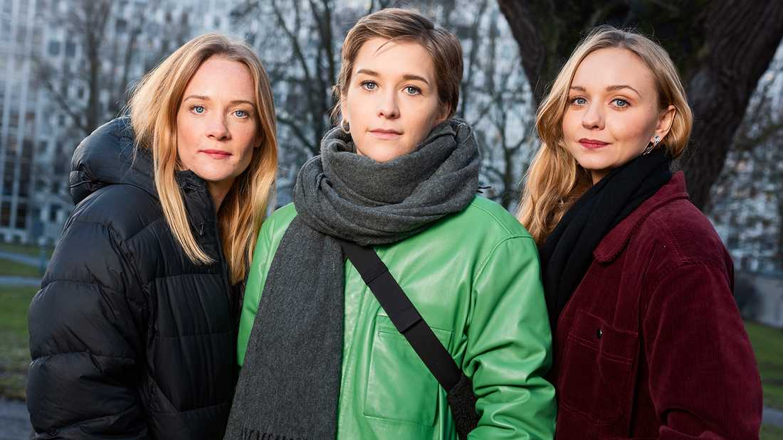 MIkaela Knapp, Maja Rung och Anna Åström.