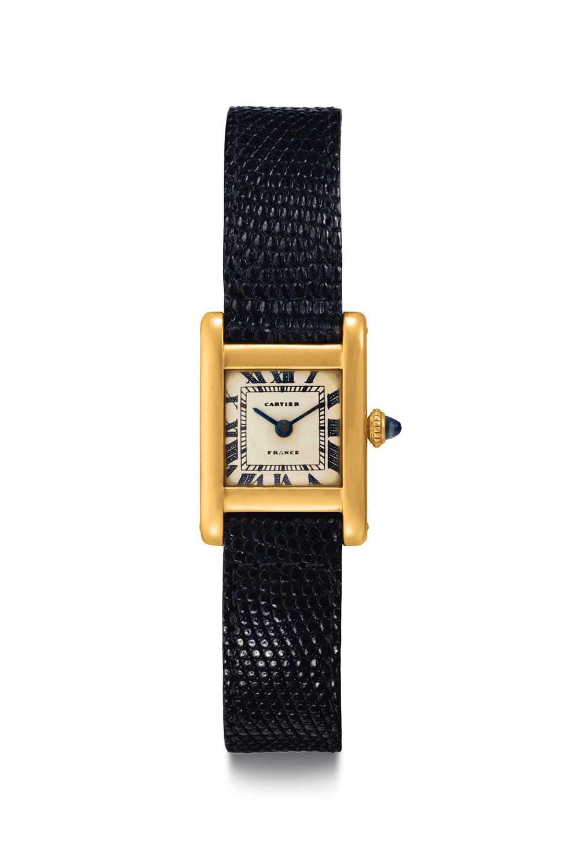 Jacqueline Kennedy Onassis Cartier Tank-klocka från 1962.