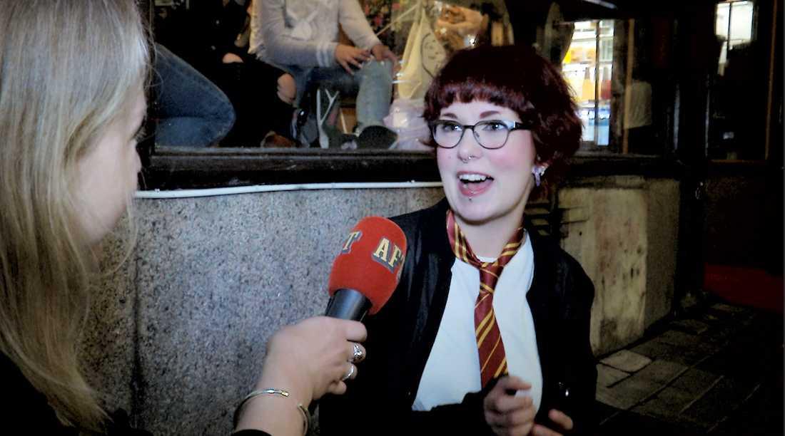 Kael Hårmia har älskat Harry Potter från det att hon var åtta år, tills nu när hon är 23 år.