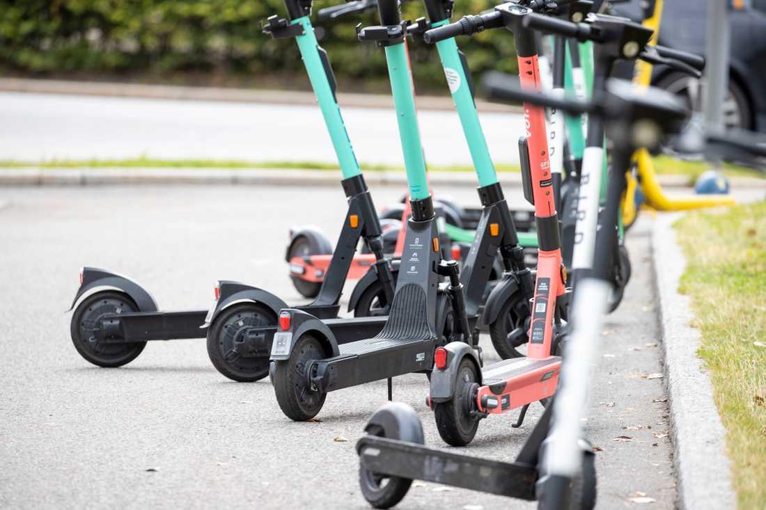 Uthyrningen av elsparkcyklar stoppas på gator och trottoarer i stora delar av Köpenhamn. Arkivbild.