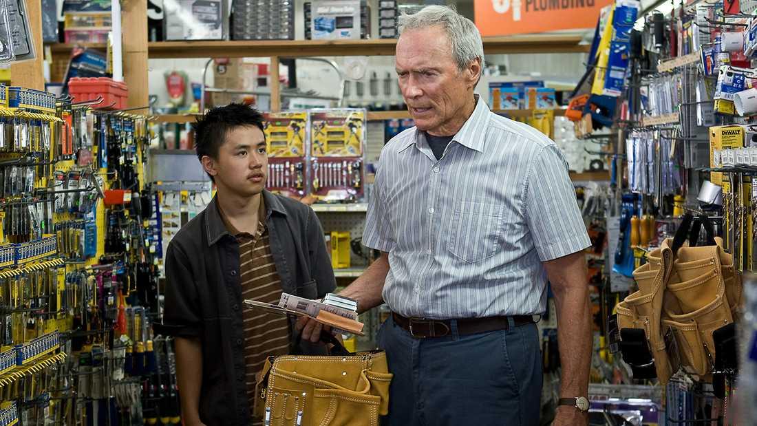 "Bee Vang och Clint Eastwood i ""Gran Torino""."