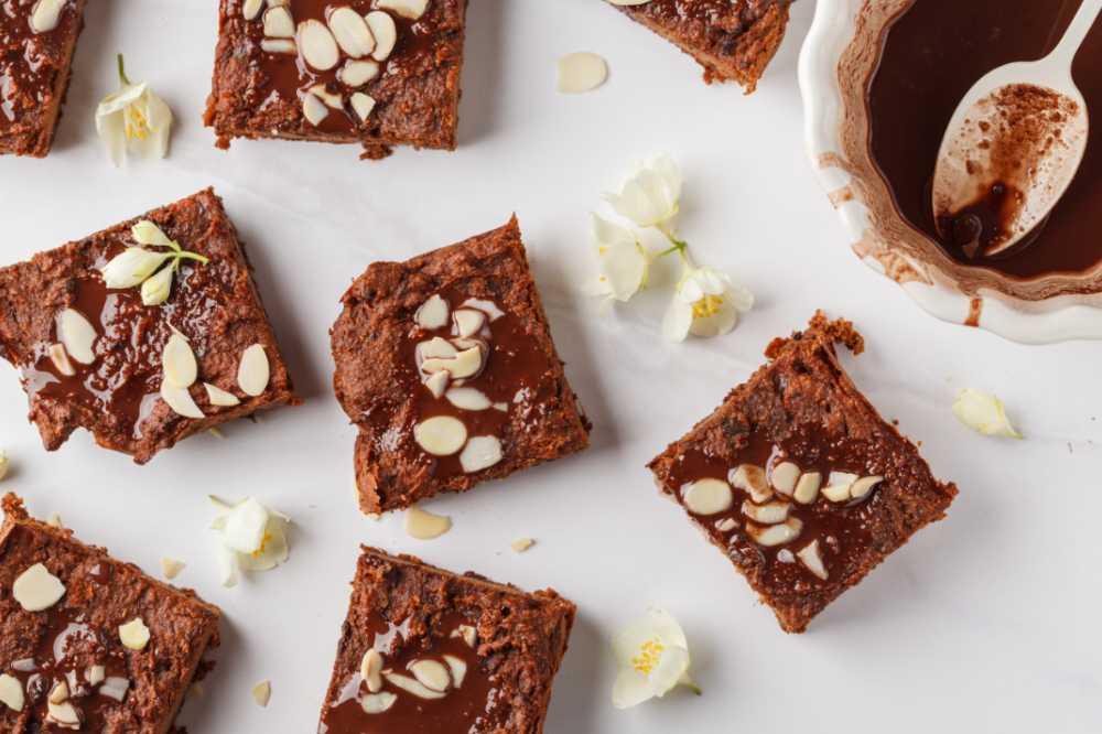 Baka brownies med sötpotatis.