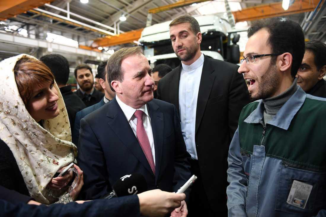 Stefan Löfven på statsbesök i Iran.