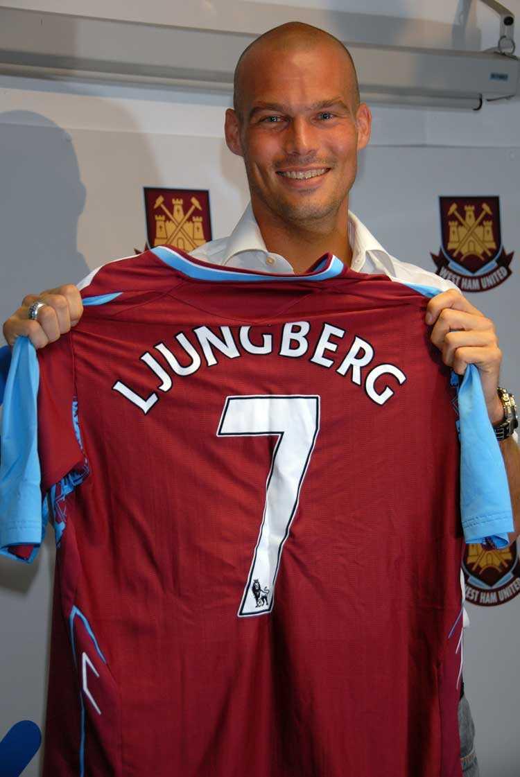 Hösten 2007 skrev Ljungberg på för Westham.