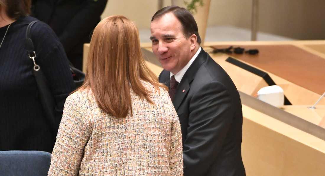Annie Lööf och Stefan Löfven har en del att diskutera.