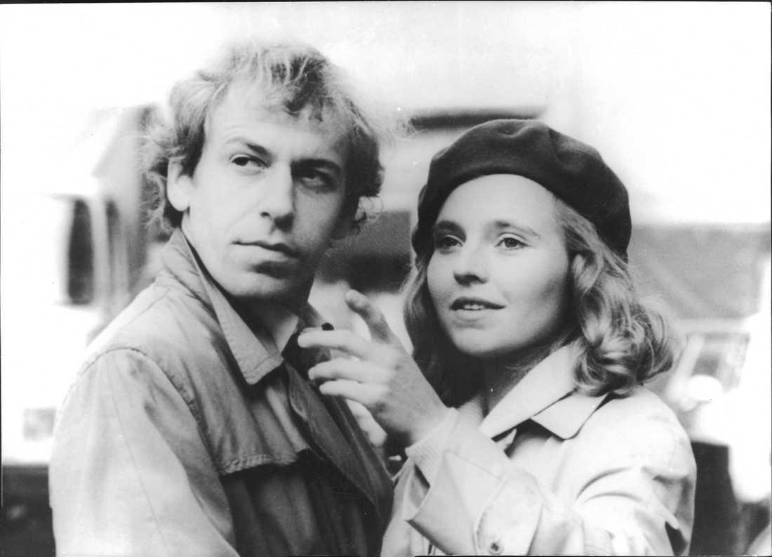 """Rudiger Vogler och Hanna Scygulla i Wim Wenders """"Falsche Bewegung"""", som Peter Handke skrev manus till."""