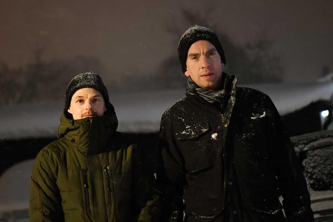 Aftonbladets Peter Wixtröm och Oskar Forsberg är på plats i Sandviken.