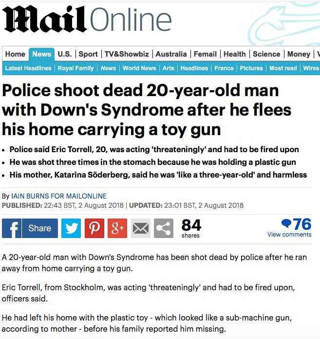 Daily Mails artikel.