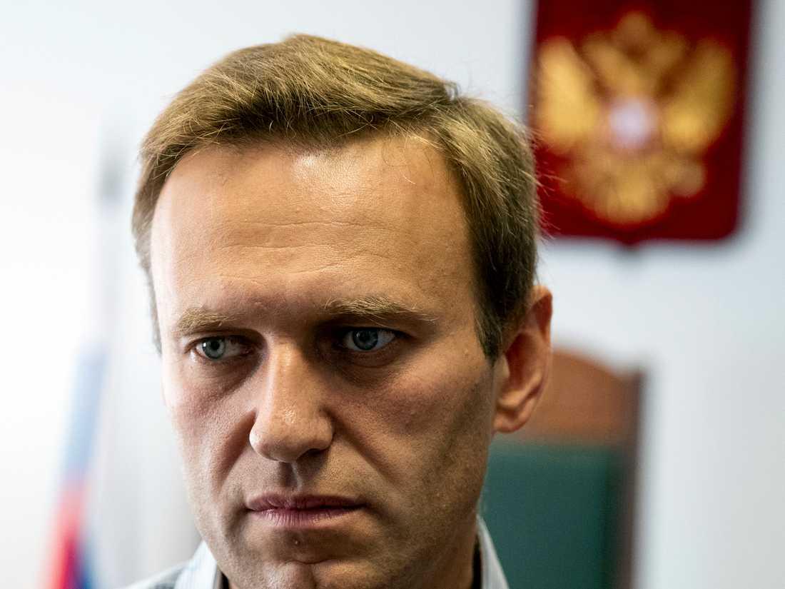 Den ryske oppositionspolitikern Aleksej Navalnyj. Bilden är tagen 2018. Arkivbild.
