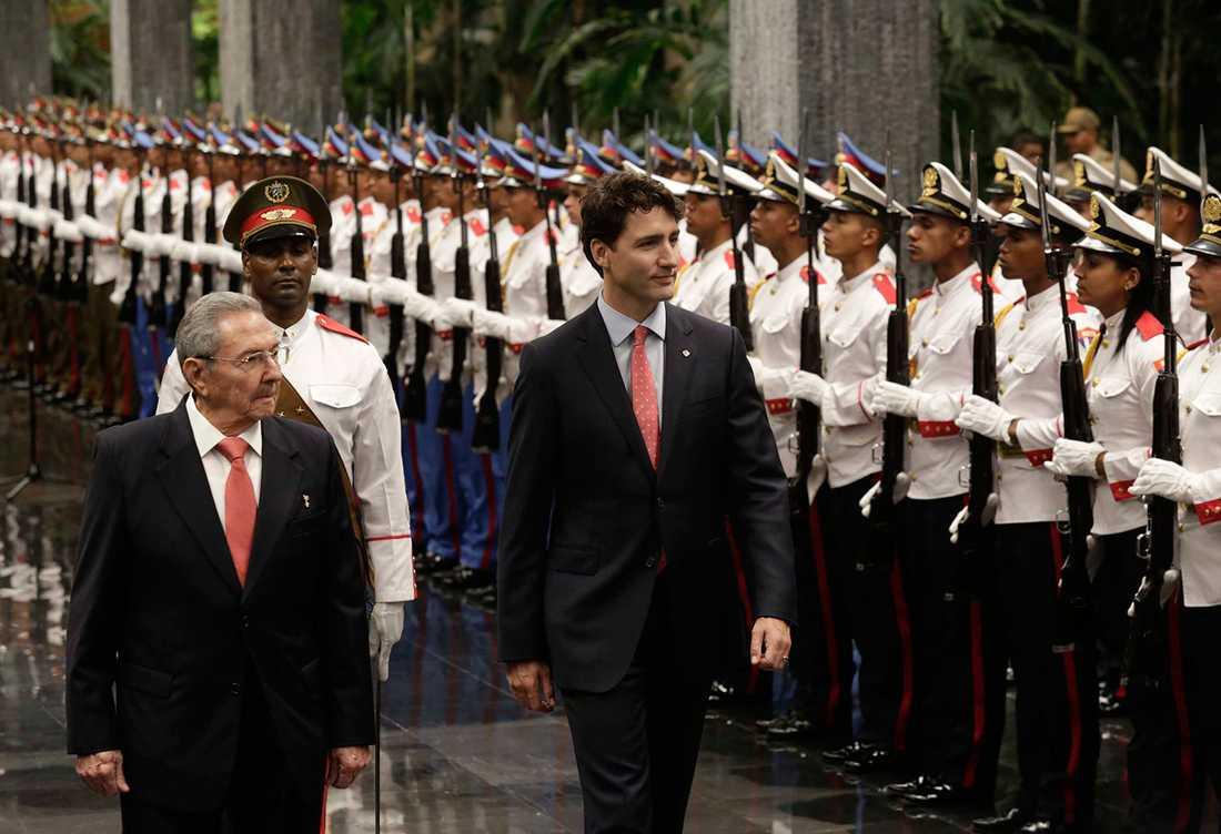 Kanadas premiärminister Justin Trudeau besökte nyligen Kuba.
